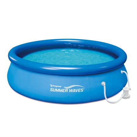 Summer Waves Quick Set Inflatable Above Ground Pool with Filter Pump, 10' x 30'