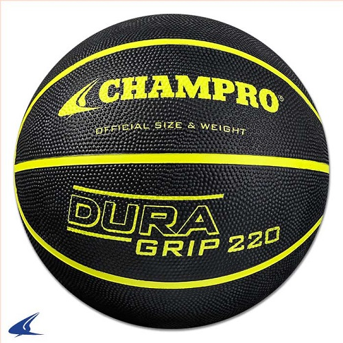 CHAMPRO Super Grip Rubber Basketball Women's Black/Yellow