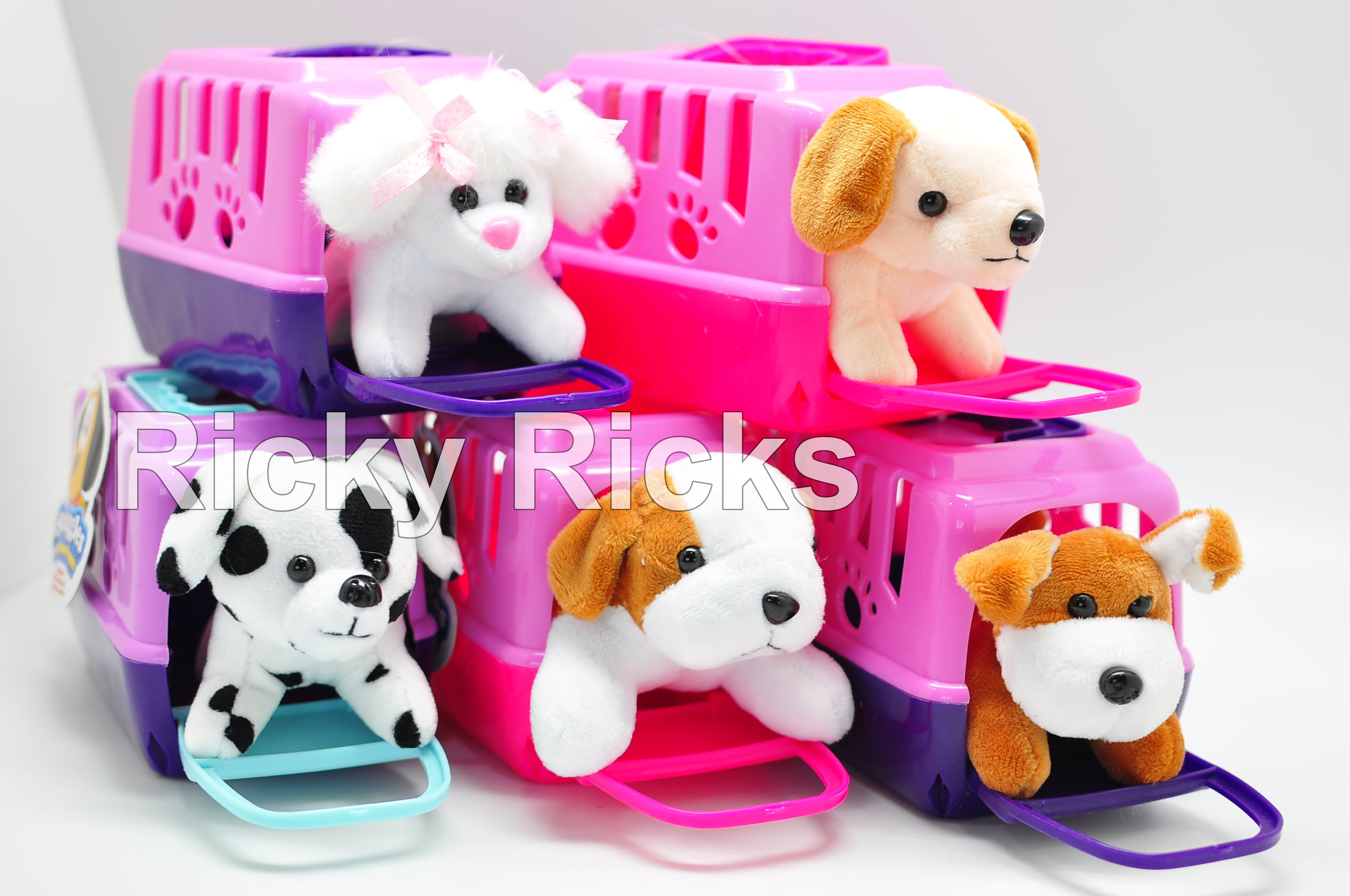 Small Pet Shop Toy Dog Carrying Case Kids Cute Puppy Stuffed