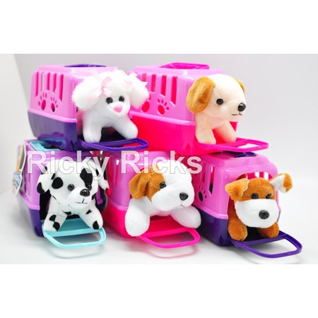 Small Pet Shop Toy Dog + Carrying Case Kids Cute Puppy Stuffed Animal Plush Christmas Gift