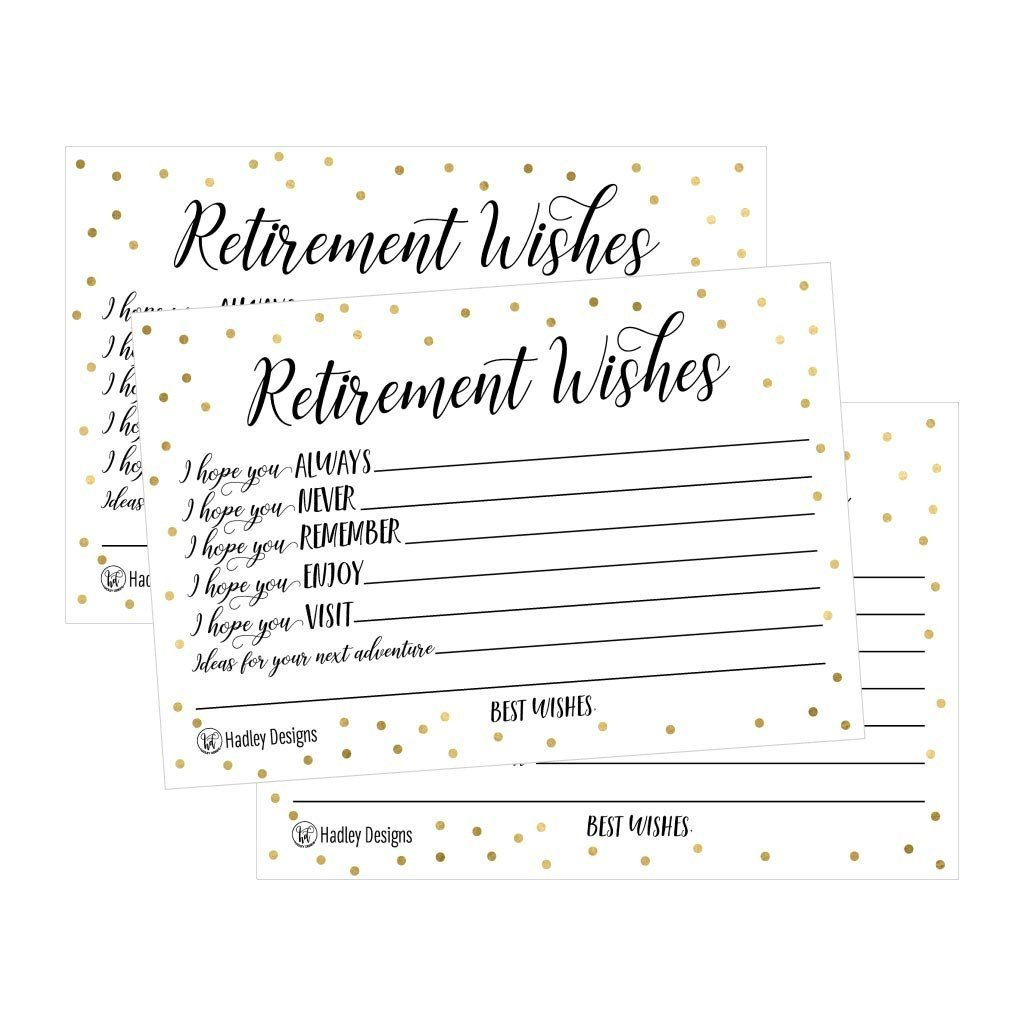 25 Retirement Party Advice Well Wish Card For Men or Women Retired Supplies and Decorations, Happy Retiree Celebration Gift Bucket List Wish Jar, Funny Personalized Officially Retired Centerpiece Set