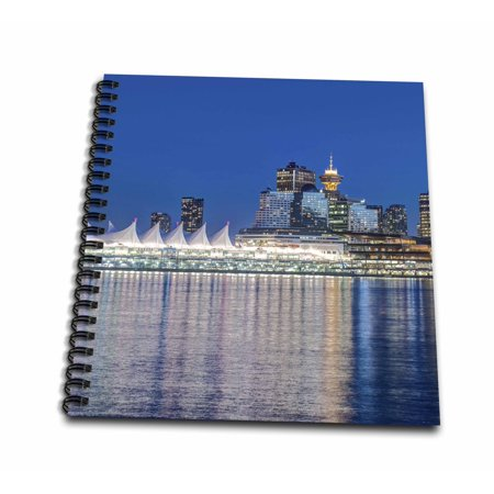Twilight Journals (3dRose Canada, British Columbia, Twilight Vancouver Skyline. - Mini Notepad, 4 by 4-inch)
