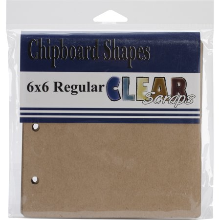 """Clear Scraps Chipboard Album, 6"""" x 6"""""""