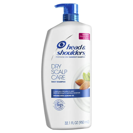 Head and Shoulders Dry Scalp Care Daily-Use Anti-Dandruff Shampoo, 32.1 fl (Best Rated Drugstore Shampoo)