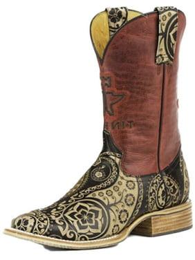 b163350be69 Product Image Tin Haul Western Boots Womens Paisley Rock Tan  14-021-0007-1205 TA