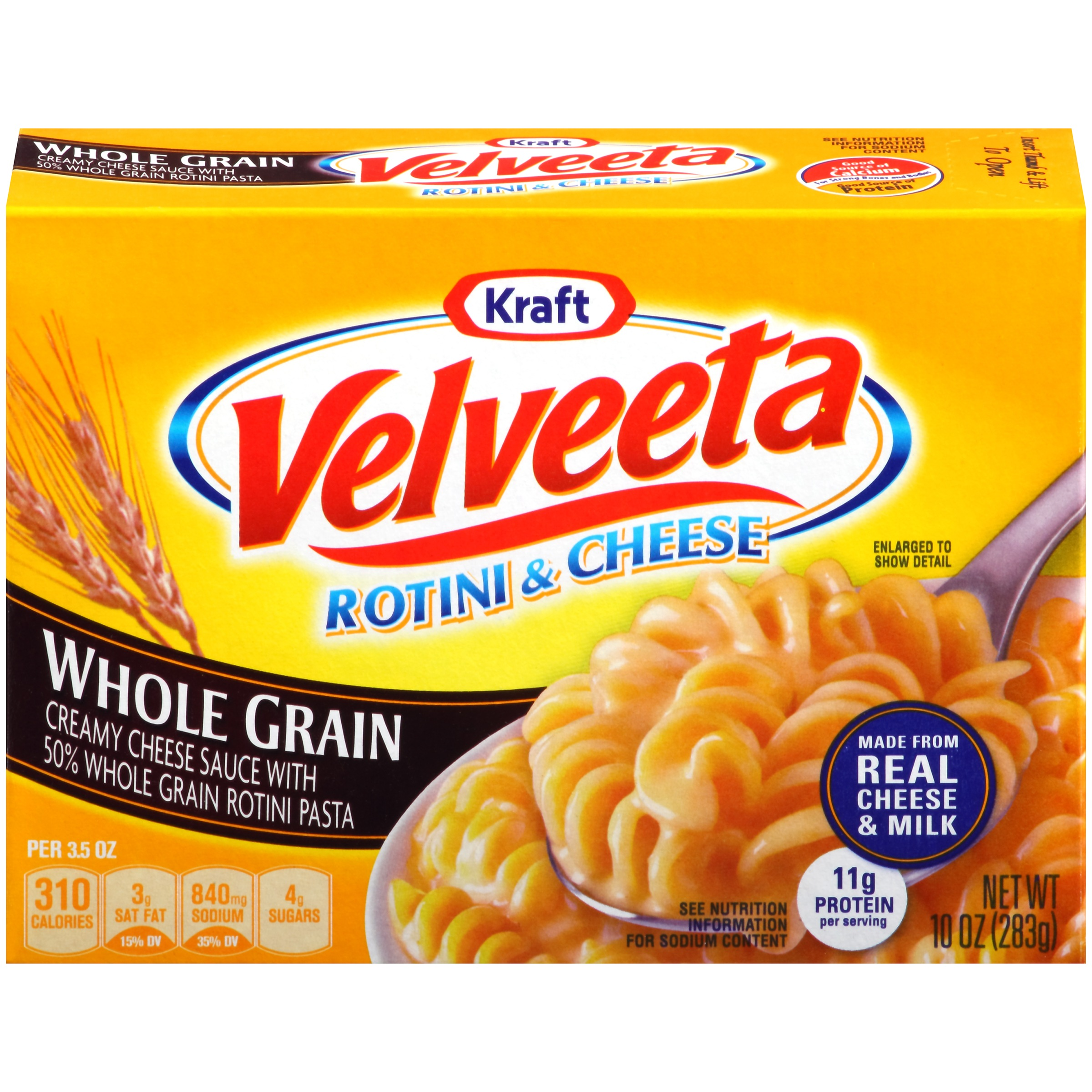 Kraft Velveeta Rotini & Cheese Whole Grain, 10 OZ (283g ...