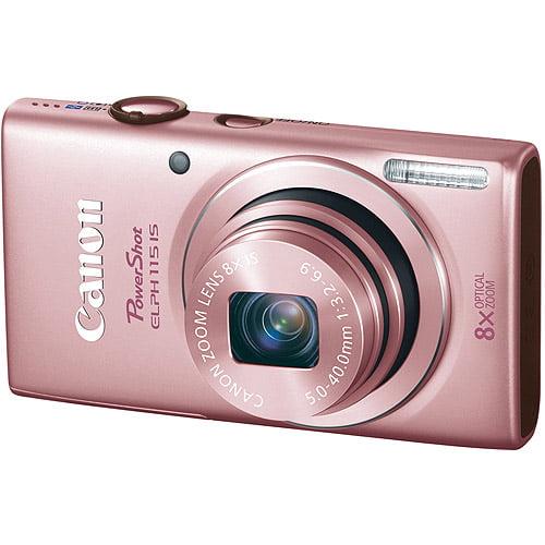 PowerShot ELPH 115 IS 16 Megapixel 8x Wide Optical Zoom 2.7IN LCD, Pink