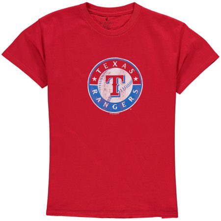 Texas Rangers Youth Distressed Logo T-Shirt - Red