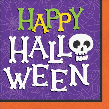 Creative Converting Halloween Skeleton Napkins, 16 - Halloween Cs 1.6