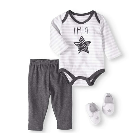 Newborn Baby Boy Bodysuit, Pants & Sneaker, 3pc Outfit Set - Newborn Halloween Outfit