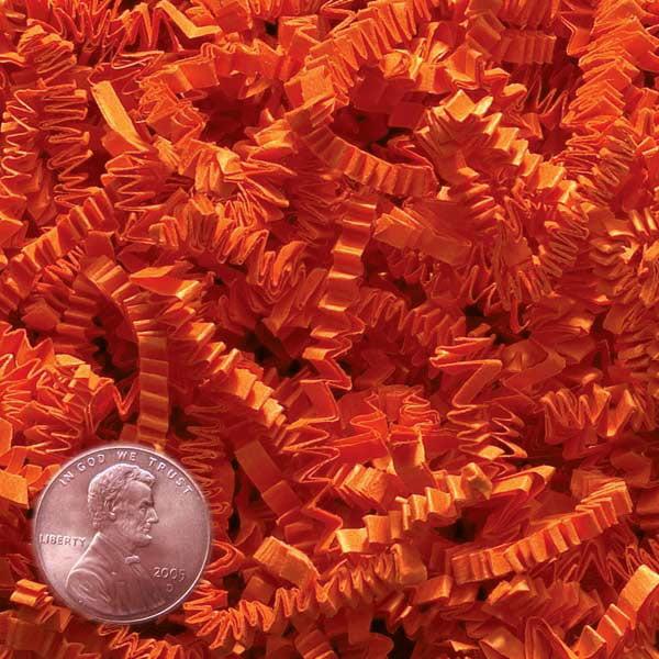 Orange Crinkle Cut Paper Shred by CRINKLE CUT by Paper Mart