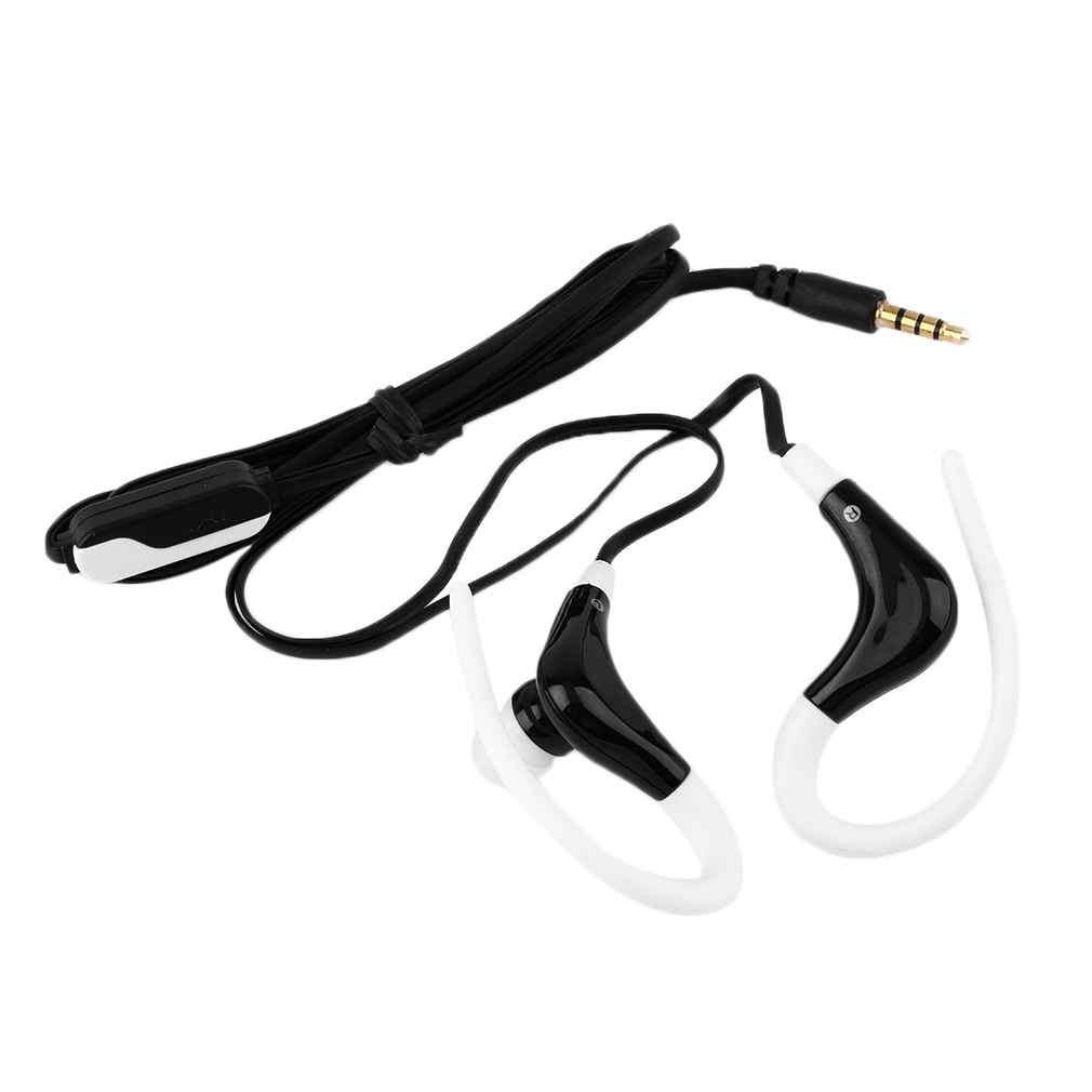 In-Ear Sports Running Active Earphone Earbuds Hook Headphone Headset Noise Cancelling In Ear Earphones for Mobile Phones