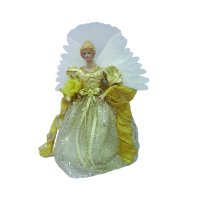Holiday Time 12in Gold Angel LED Tree Topper