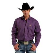 Cinch Western Shirt Mens Long Sleeve Floral Weave Purple MTW1104186