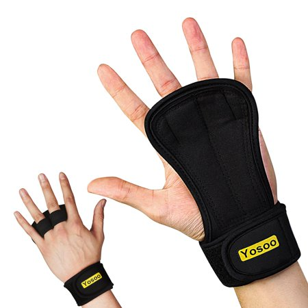 Gymnastics Grip Palm Protectors with Wrist Support Strap for Workout Cross Training Weight Lifting, Suits Men and Women - Pull Up Gloves with Padding to Avoid Calluses,Gloves,training gloves