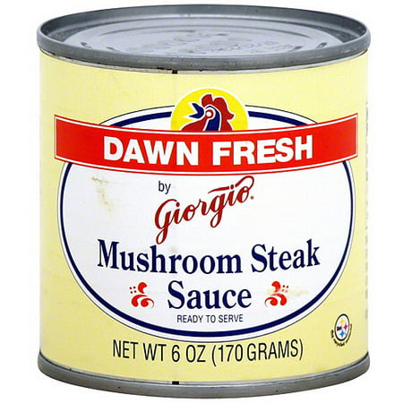 Dawn Fresh By Giorgio Mushroom Steak Sauce, 6 oz (Pack of 12) Light Mushroom Sauce