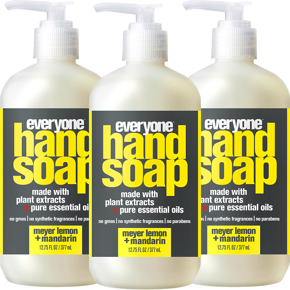 (3 Pack) Everyone™ Meyer Lemon & Mandarin Hand Soap, Triclosan-Free, 12.75oz Bottle