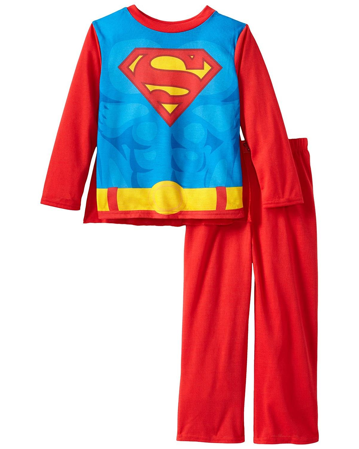 Small Superman DC Comics Mens Logo Two Piece Pajama Set