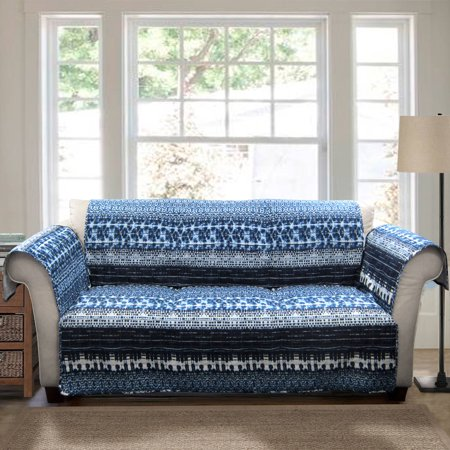Lambert Tie Dye Furniture Protectors Navy Sofa Couch Cover