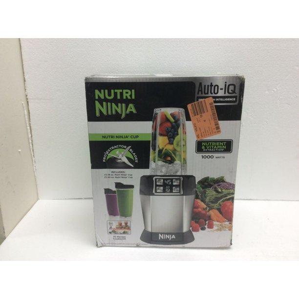Ninja Nutri Auto Iq 24 Oz 3 Speed Black High Speed Single Serve Blender New Open Box Walmart Com Walmart Com