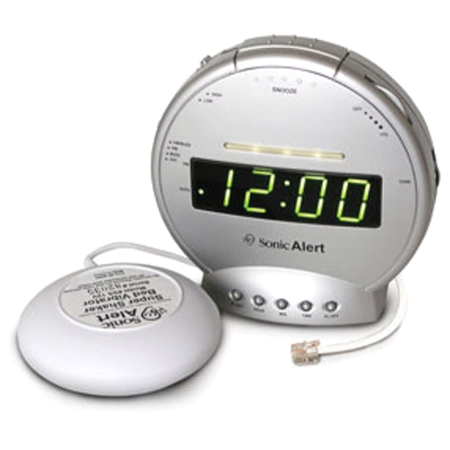 Sonic Alert Alarm Clock and Telephone Signaler w/ Super Shaker SBT425SS (Telephone Alarm)