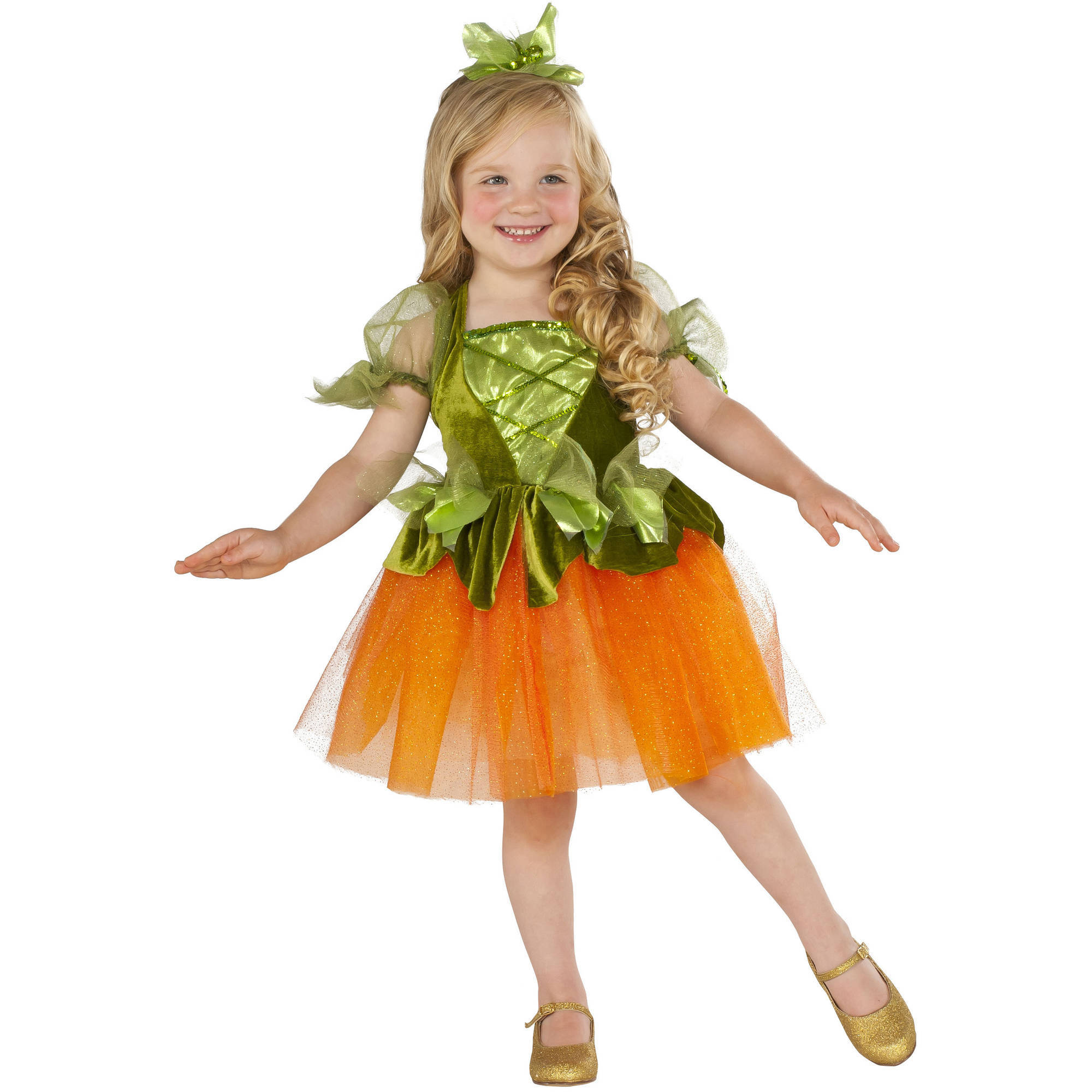 pumpkin princess toddler dress halloween costume