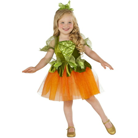 Pumpkin Princess Toddler Dress Halloween Costume - Easy Pumpkin Halloween Costume