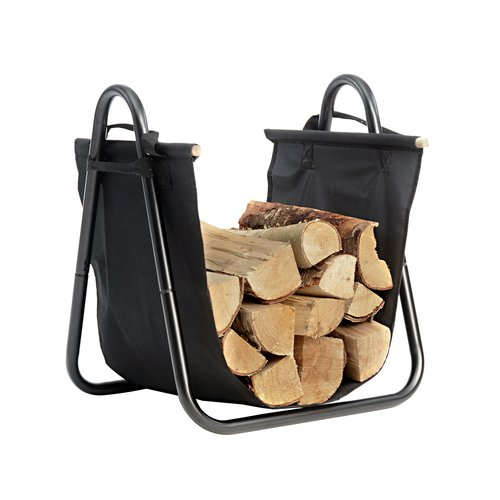 Hearth Accessories Log Holder with Canvas Carrier