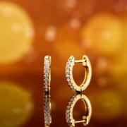 Peermont 18k Gold Overlay Hollywood Huggie Crystal Earrings