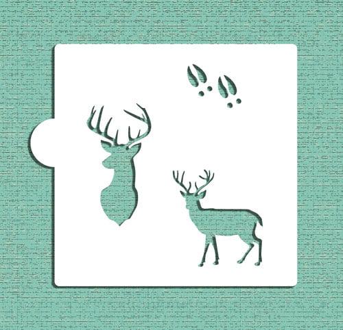 Designer Stencils Deer - Buck Cookie and Craft Stencil CM120