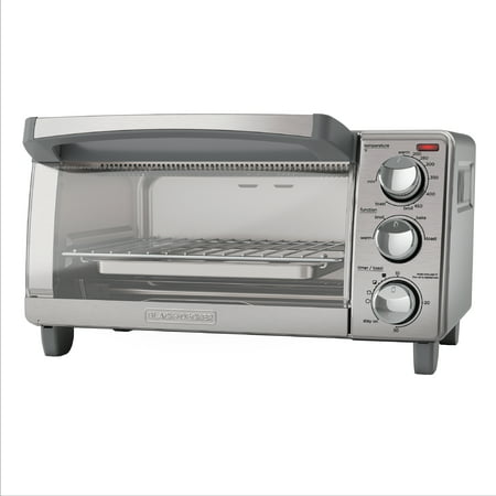 BLACK+DECKER 4-Slice Toaster Oven, Easy Controls, Stainless Steel, TO1760SS ()