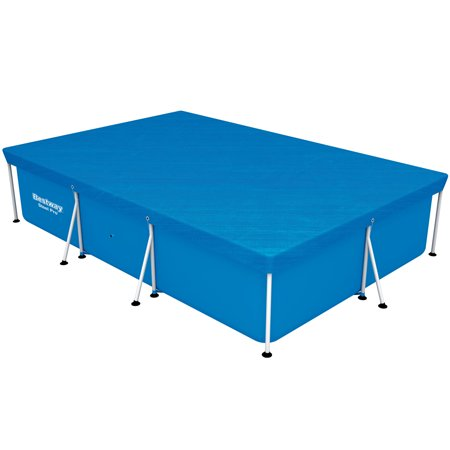 Bestway Safety Cover for the 118 x 79 x 26 Inch Rectangular Steel Pro Frame Pool (Step Safety Pool Cover)