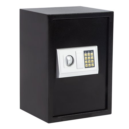 Electronic Safe Box Lock Box Safes And Lock Boxes Combination Security Cabinet Digital Safe Box With Two Keys Keypad And Safe 1.8 CF Large For Office Home Hotel Gun Jewelry Money Safe
