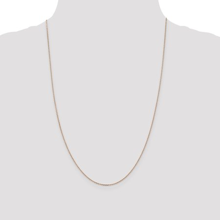Quality Gold RSC20-20 Cha-ne de c-ble taille diamant en or rose 14K de 1 mm x 20 po - image 3 de 5
