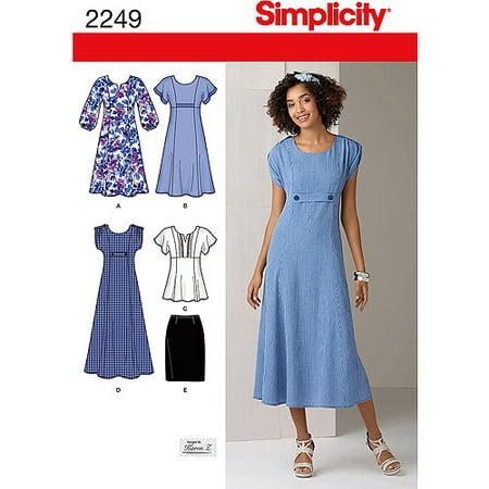 Simplicity Plus Size 20W-28W Dress Pattern, 1 Each