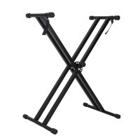 Keyboard Stand, Zaqw Portable X-Style Keyboard Stand Double Braced Music Electric Organ Holder Adjustable Height, Double Keyboard Stand
