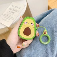 MINI-FACTORY Protective Silicone Cute Avocado Pattern Heavy Duty Case Cover for Apple AirPods