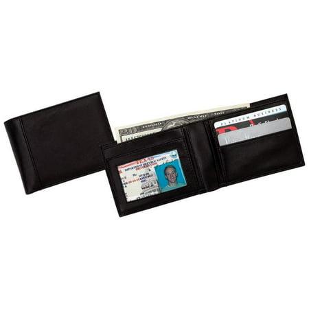 Embassyâ ¢ Men's Solid Genuine Leather Bi-fold Wallet - LULWAL17