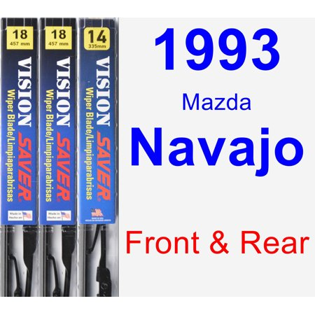 - 1993 Mazda Navajo Wiper Blade Set/Kit (Front & Rear) (3 Blades) - Vision Saver