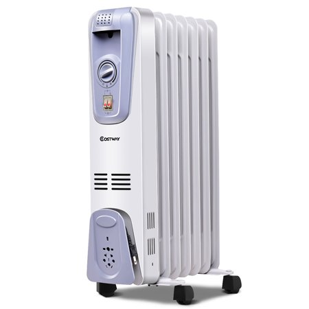 1500w Electric Oil Filled Radiator Space Heater 7 Fin Thermostat Room Radiant Walmart Canada