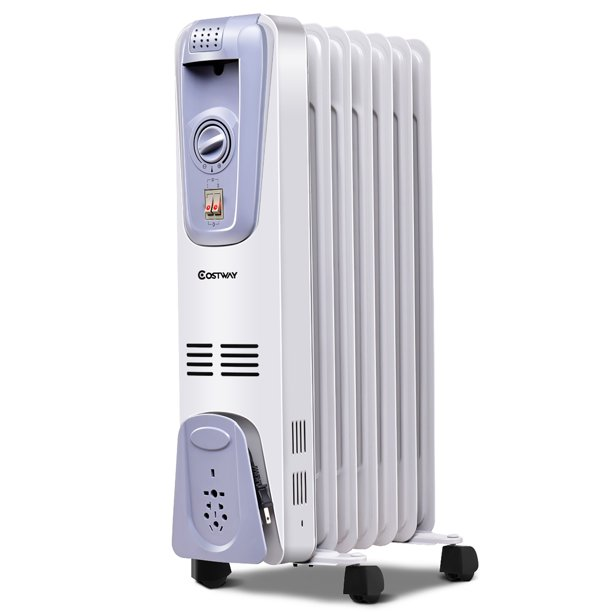 1500w Electric Oil Filled Radiator Space Heater Thermostat Walmart Com Walmart Com