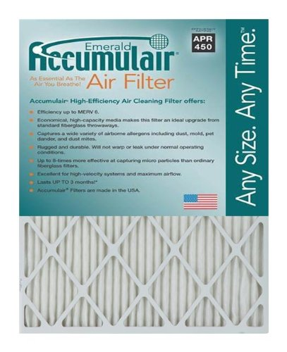emerald 14x24x1 (13.75x23.75) merv 6 air filter/furnace filters (4 ...