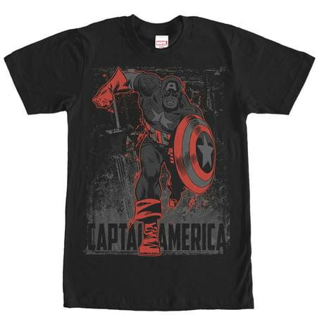 Marvel Men's Captain America Shadow T-Shirt for $<!---->