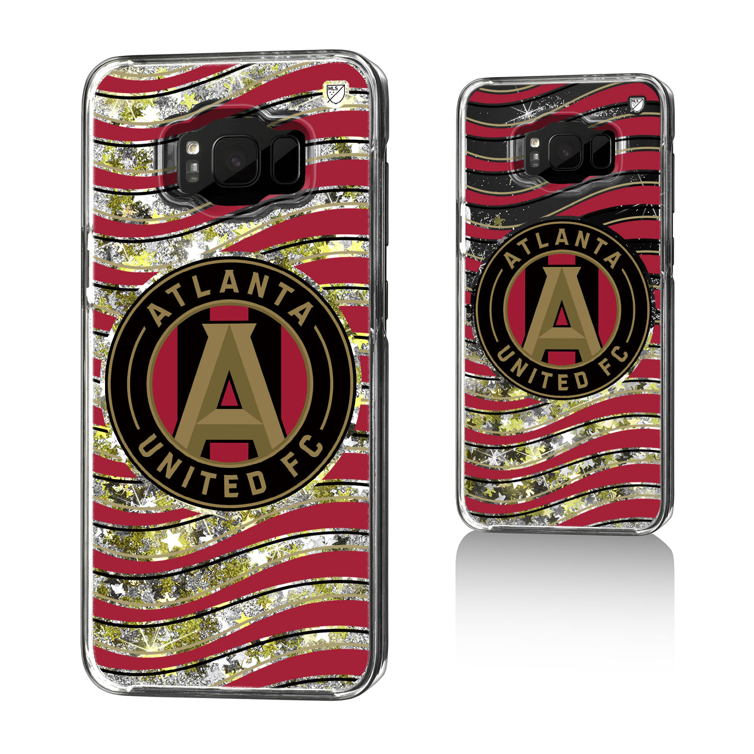 Atlanta United FC ATLUTD Wave Glitter Case for Galaxy 8+