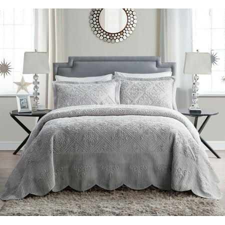 Gray Wasteland Quilt Set (Queen) - VCNY