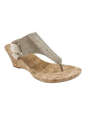 9c58e8f5bda Product Image Women s White Mountain All Good Wedge Sandal. Product  Variants Selector. Black Woven Embossed Metallic Polyurethane