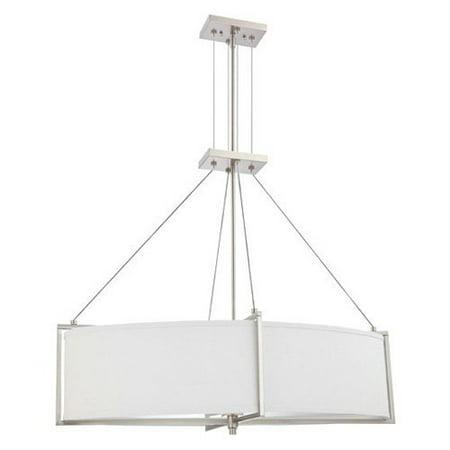 Nuvo Portia - 4 Light Oval Pendant w/ Slate Gray Fabric (Slate Grey Light)