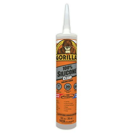 Gorilla Clear Silicone Sealant, 10 oz. Cartridge
