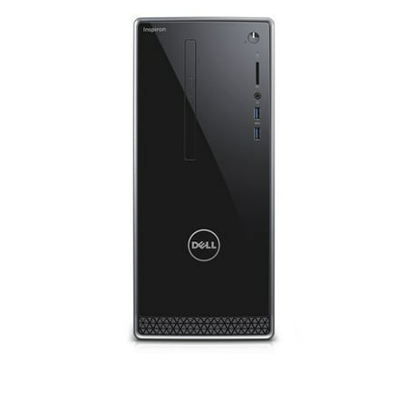 Dell Black Inspiron 3656 Desktop PC with AMD A8-8600P Processor, 8GB Memory, 1TB Hard Drive and Windows 10 (Monitor Not Included)