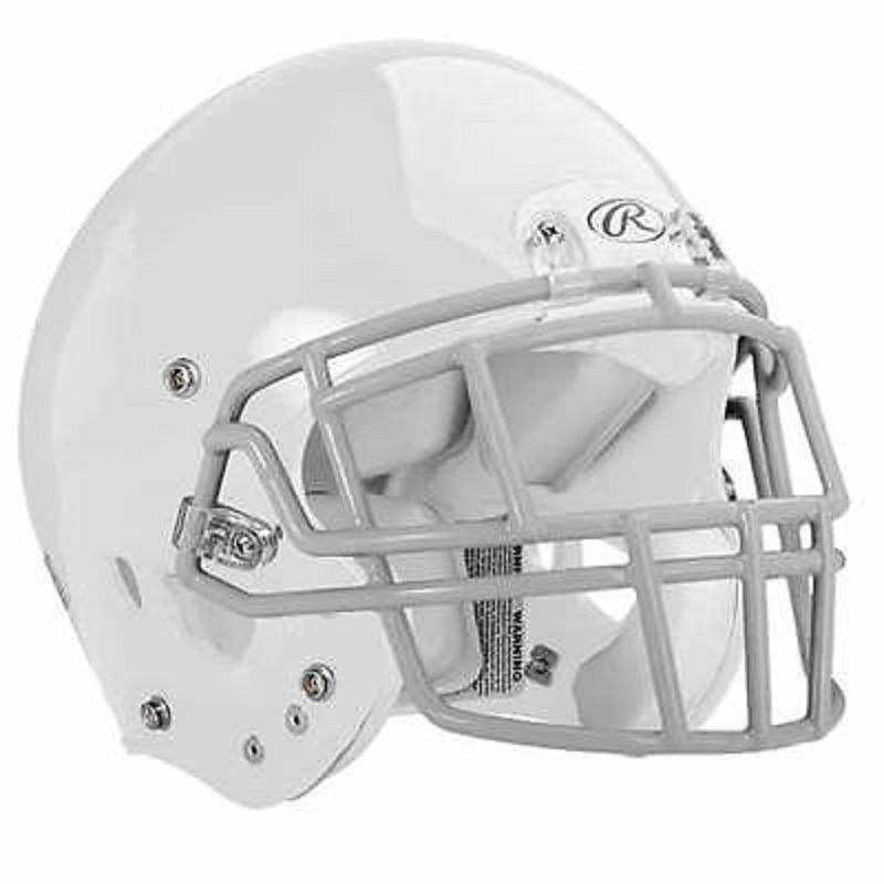 NRG MOMENTUM PLUS RAWLINGS WHITE YOUTH S Football Helmet Mask Sold Separate
